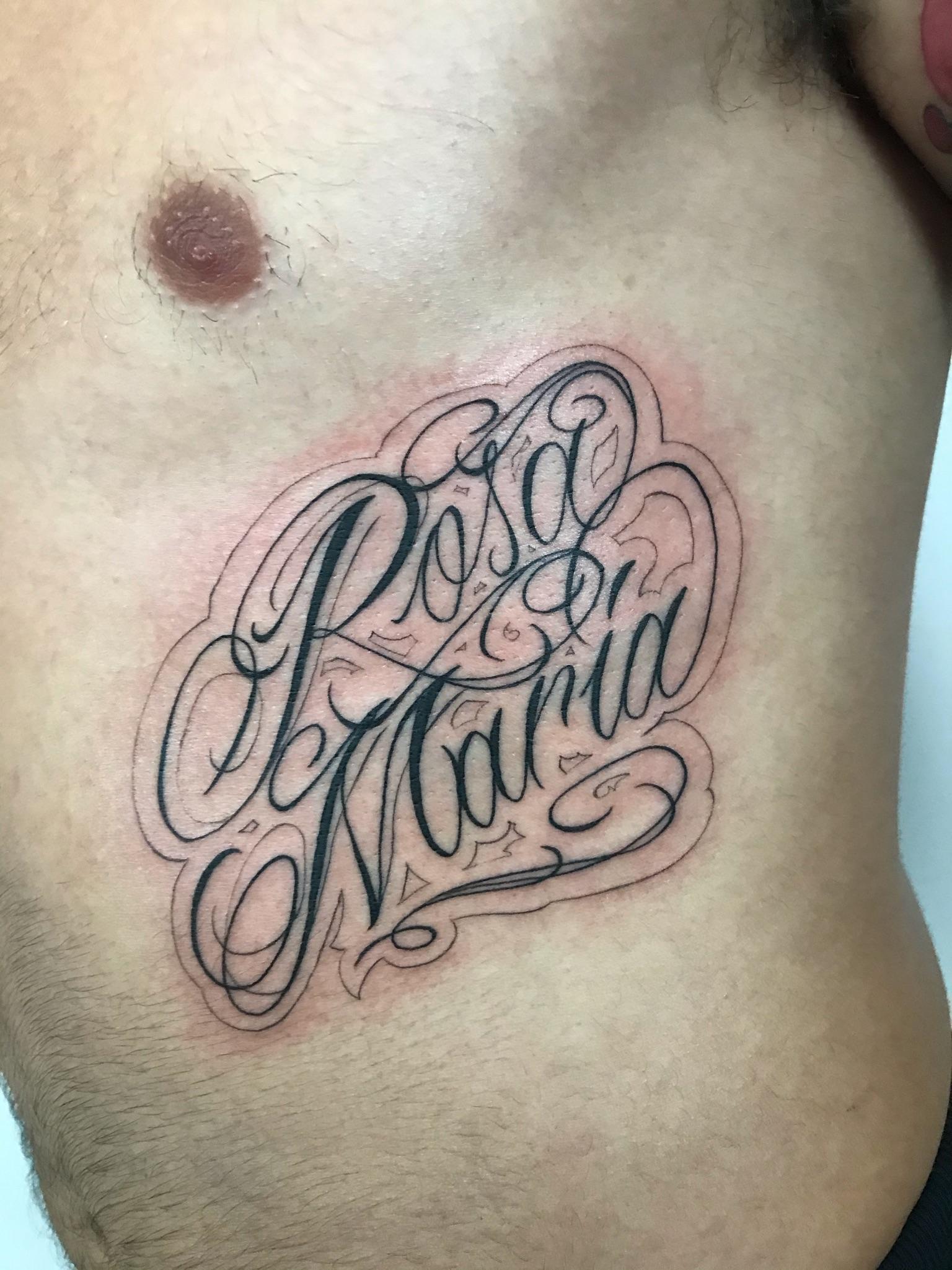 """Letering """"Rosa María"""""""